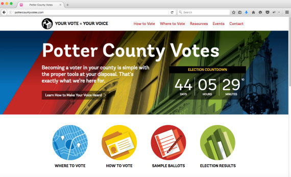 Potter County Votes Website